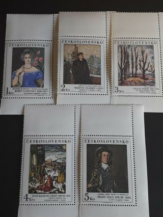 Stamps Czechoslovakia 1985,  Art