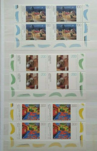 1995 Art Set 100pf - 300pf Cornerblocks Of4 Vf Mnh Germany Deutschland B27010 099$