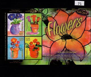 // Gambia - Mnh - Art - Ainting - Flowers - Flora - Full Sheet