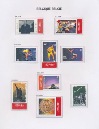 Xb70385 Belgium 2004 Sculptures Art Sports Mnh Fv 5,  15 Eur