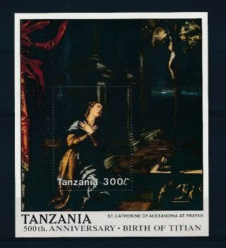 D280302 Paintings Art 500th Anniversary Birth Of Titian S/s Mnh Tanzania