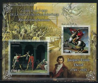 M2136 Nh 2013 Imperf Souvenir Sheet Of Museum Paintings By Jackues David