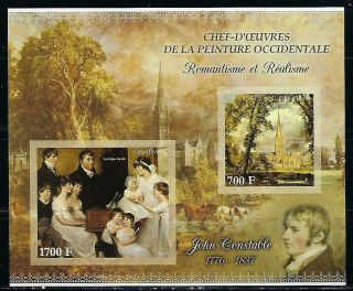 M2133 Nh 2013 Imperf Souvenir Sheet Of Museum Paintings By John Constable