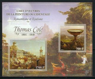 M2129 Nh 2013 Imperf Souvenir Sheet Of Museum Paintings By Thomas Cole