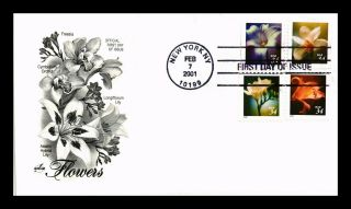 Dr Jim Stamps Us Flowers Combo First Day Cover Art Craft York