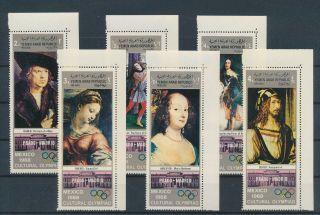 Lk73814 Yemen Olympics Paintings Art Corners Mnh