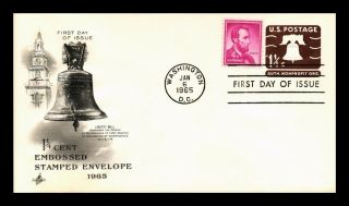 Dr Jim Stamps Us 1.  25c Liberty Bell Fdc Combo Postal Stationery Cover Art Craft