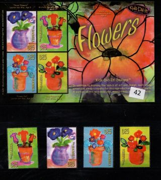 / Gambia - Mnh - Art - Painting - Flowers - Flora