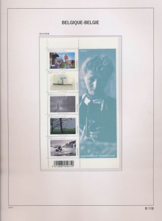 Xb68813 Belgium 2008 Photography Art Good Sheet Mnh Fv 4 Eur