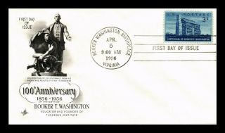 Dr Jim Stamps Us Booker T Washington Art Craft First Day Cover Scott 1074