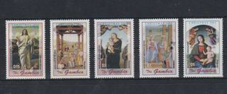 M295.  Gambia - Mnh - Art - Paintings - Christmas 2002