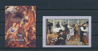 Lk67281 Grenada Paintings Art Sheets Mnh