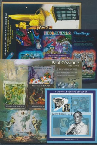 Ab3 - 2699 World Paintings Art Good Sheets Mnh