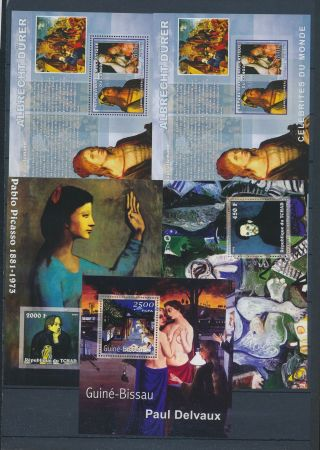 Ab3 - 2655 World Paintings Art Good Sheets Mnh