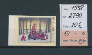 Lk45235 Belgium 1998 Three Kings Religious Art Imperf Mnh Cv 20 Eur