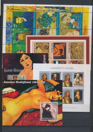 Ab2 - 2679 World Paintings Art Good Sheets Mnh