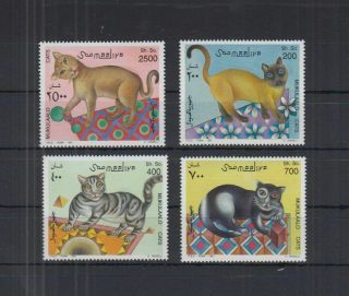 V284.  Somalia - Mnh - Nature - Cats - Art