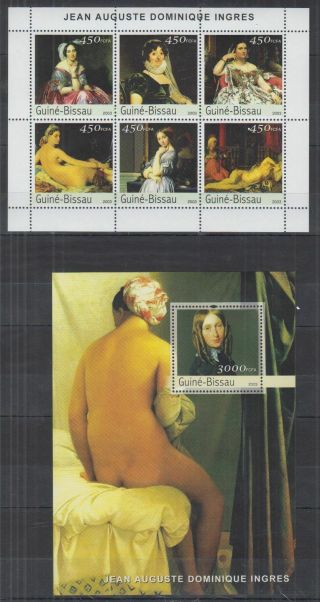 U282.  Guinea - Bissau - Mnh - Art - Paintings - Jean Auguste Dominique Ingres