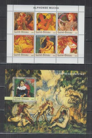 K673.  Guinea - Bissau - Mnh - Art - Paintings - Alphonse Mucha