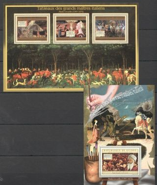 Bc054 2012 Guinea Art Paintings Italian Great Masters Paolo Uccello Kb,  Bl Mnh