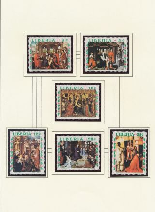 Xb71798 Liberia Adoration Of Magi Paintings Fine Lot Mnh