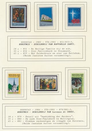 Xb71793 Zealand 1983 Santi & Credi Paintings Fine Lot Mnh