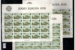 / Jersey - Mnh - Art - Architecture - Europa Cept 1978 - Folded Sheets