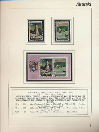 Xb71624 Aitutaki Death Of James Cook Paintings Fine Lot Mnh