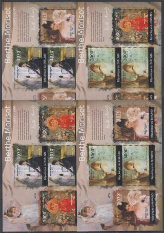 N942.  Burundi - Mnh - Art - Paintings - Berthe Morisot