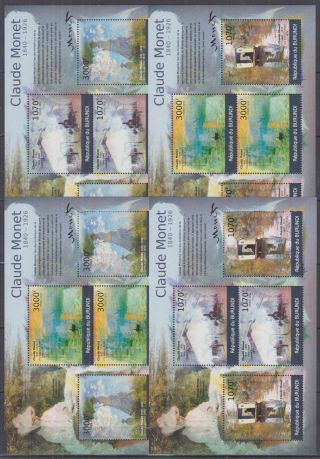 N942.  Burundi - Mnh - Art - Paintings - Claude Monet