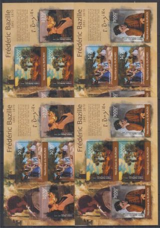 N942.  Burundi - Mnh - Art - Paintings - Frederic Bazille