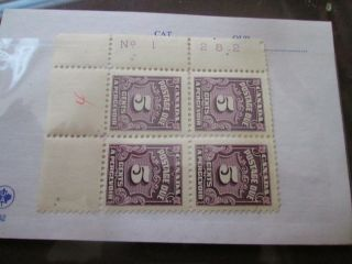 Canada Stamps 5 Cent Block Of 4 Postage Due Mh