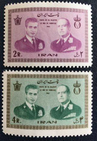Middle East,  World Wide,  Old Stamps,  Album,  Full Set,  Mnh,  1965,  King Olav Of Norway