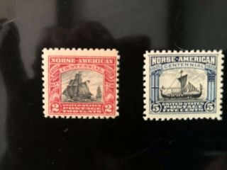 Us Stamps Scott 620 - 621 Norse American Issue Mnh Og