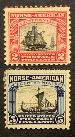 Travelstamps: 1925 Us Stamps Scott S 620 & 621,  Norse - American,  Og,  Mnh/mh