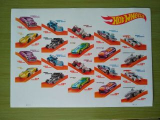 Hot Wheels Cars 2018 Us 50th Anniversary 20 Forever Stamp Sheet