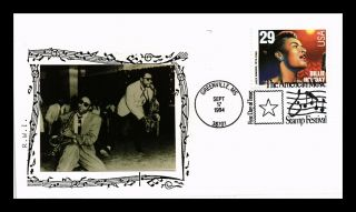 Dr Jim Stamps Us Billie Holiday Jazz Singer Fdc Cover Photo Cachet Greenville
