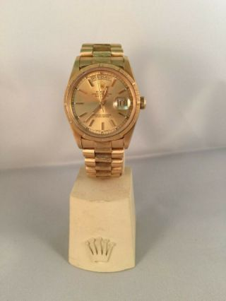 Rolex Day Date President Mens 18k Yellow Gold Watch 18248