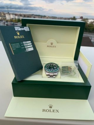 Rolex Submariner Hulk 116610lv Ceramic Green Dial Pre - Owned