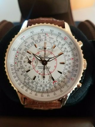 Breitling Navitimer Montbrillant Limited Edition Solid 18k Rose Gold 44mm