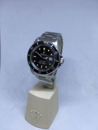 Vintage Rolex Submariner Stainless Steel 40mm Date Ref.  16800 Creamy Patina Dial