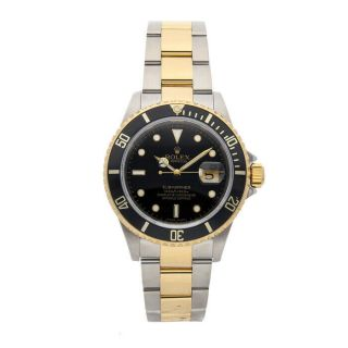 Rolex Submariner Auto 40mm Steel Yellow Gold Mens Bracelet Watch Date 116613ln