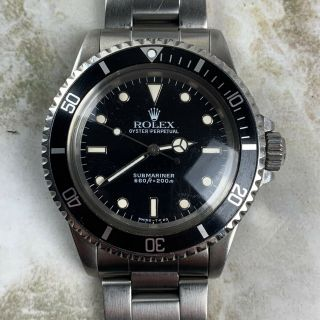 Vintage Rolex Submariner Dive Wristwatch Ref.  5513 Gloss 40mm C.  1986 Nr
