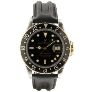 Rolex Gmt Master Steel Yellow Gold 40mm Automatic Jubilee Watch 16753 Circa 1982