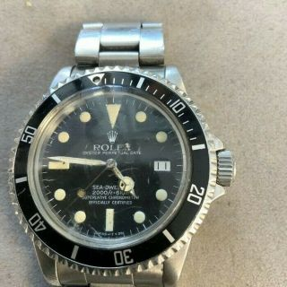 Rolex Vintage Sea - Dweller Steel Auto 40mm Mens Watch 1665 As - Is