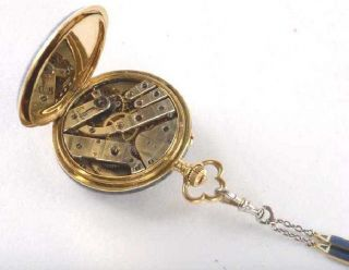 Faberge Gold Enamel with Diamonds Pavel Bure Russian pocket watch 12