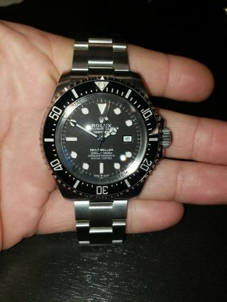 2019 Rolex Sea - Dweller Deepsea 126660 Stainless Steel 44mm Black Dive Watch