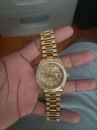 18k Rolex Watch Mens Pre Owned