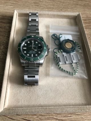 Rolex Submariner Hulk 116610lv Ceramic Green Dial Pre - Owned Box 4yr Arranty
