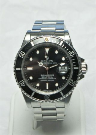 "Rolex Vintage Rolex Submariner 168000 "" Triple Zero "" (transitional Model) Steel"